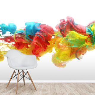 Fluid Rainbow Wallpaper Wall Murals