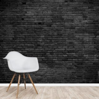 Black Painted Brick Wall