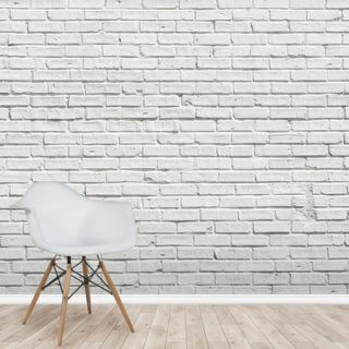 White Brick Effect Wall