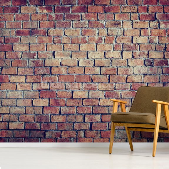 Beautiful Textured Brick Effect Wall wall mural room setting
