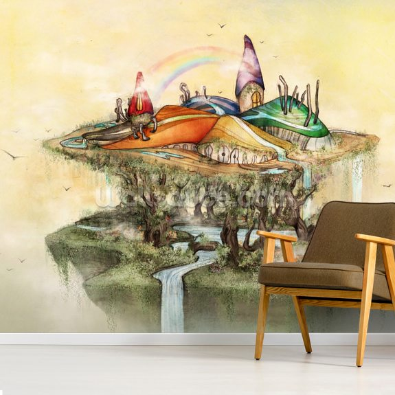 Castle in the Sky wall mural room setting