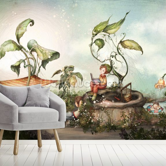 Those Good Old Summer Days wall mural room setting