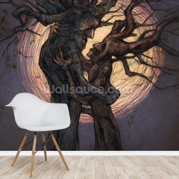 Tree Lovers mural wallpaper room setting