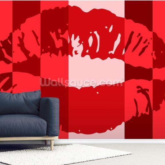Pop Art Lips Wallpaper Wallsauce Uk