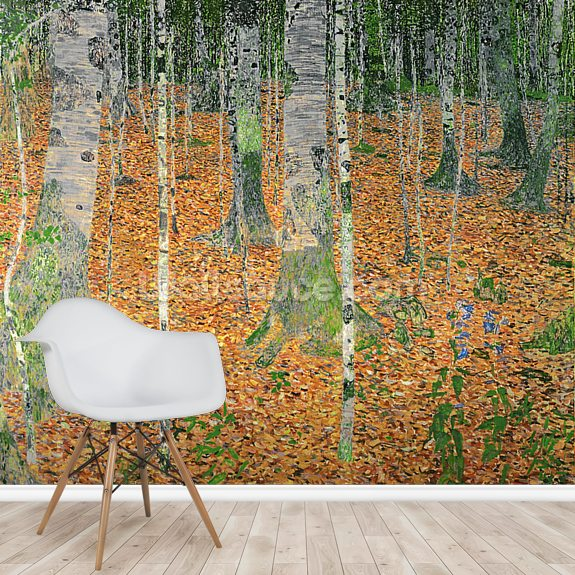 The Birch Wood, 1903 (oil on canvas) wall mural room setting