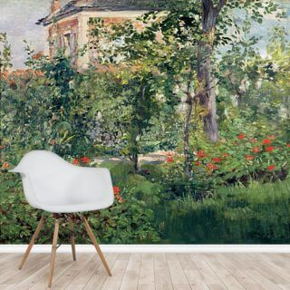 The Garden at Bellevue, 1880 (oil on canvas) Wallpaper Wall Murals