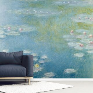 Nympheas at Giverny, 1908 (oil on canvas) Wallpaper Wall Murals