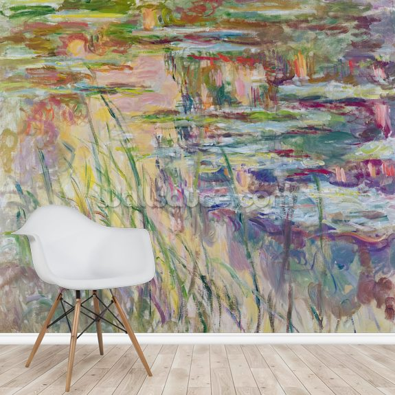 Reflections on the Water, 1917 (oil on canvas) wall mural room setting