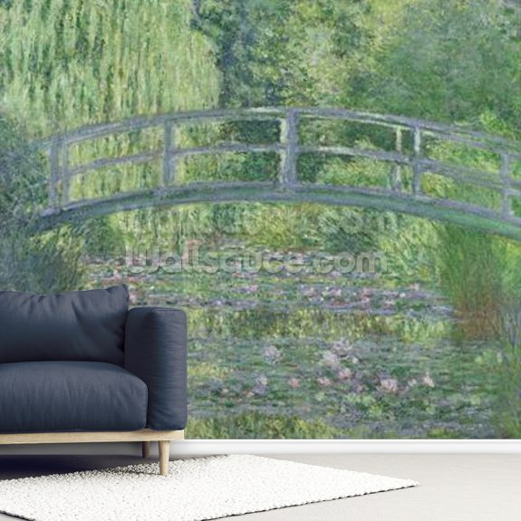 The Waterlily Pond: Green Harmony, 1899 (oil on canvas) wallpaper mural room setting