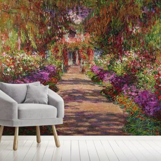 A Pathway in Monets Garden, Giverny, 1902 Wallpaper Wall Murals