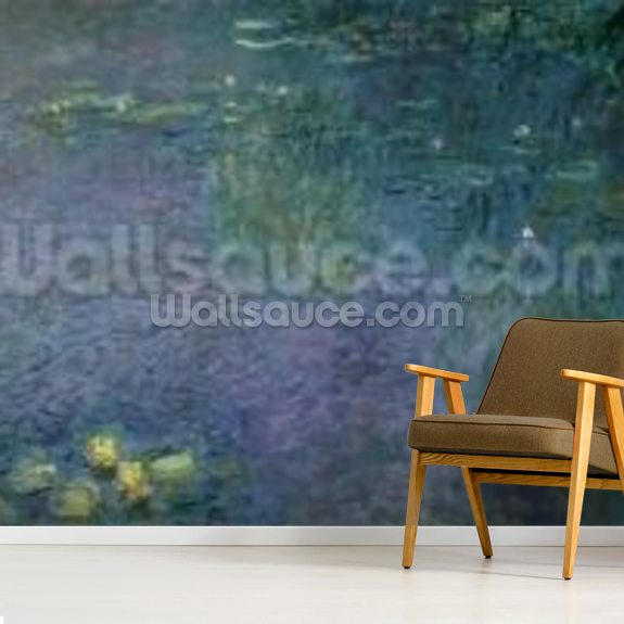Waterlilies: Morning, 1914-18 (centre right section) wallpaper mural room setting