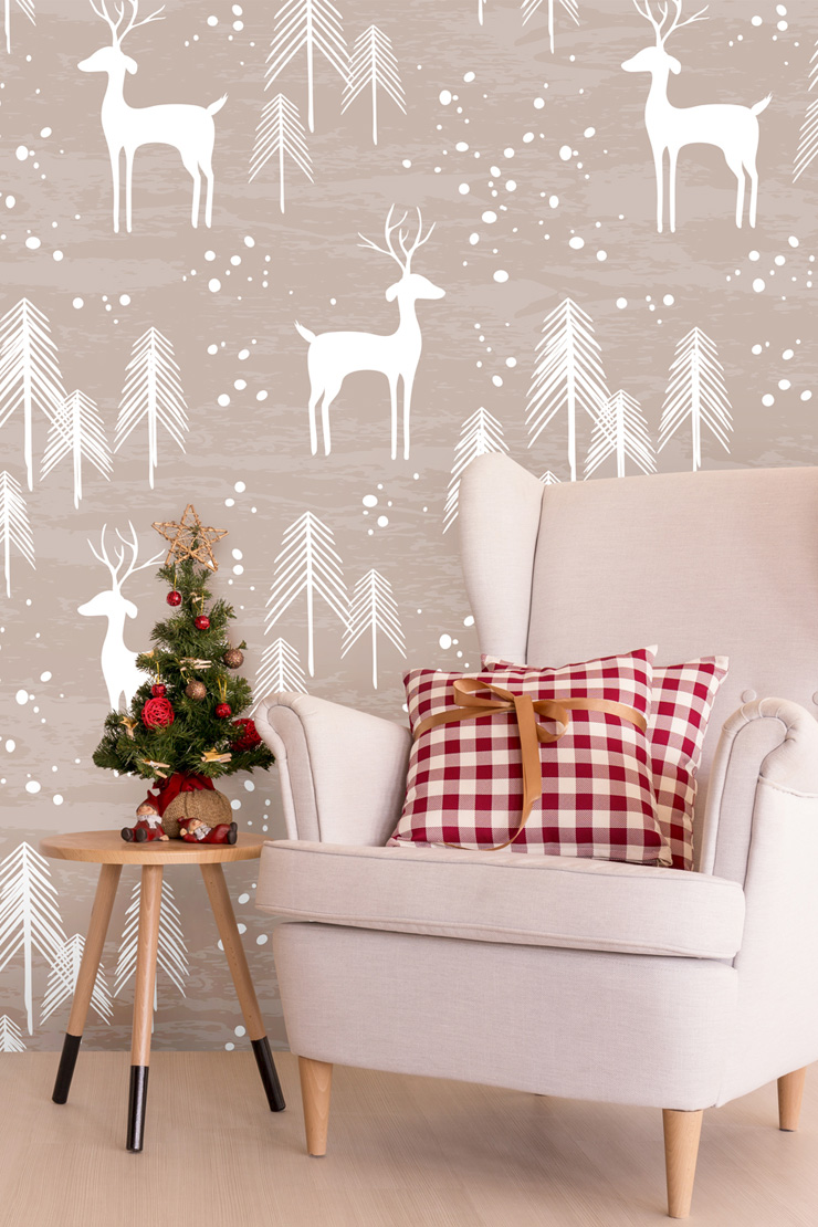 deer-wallpaper-for-christmas