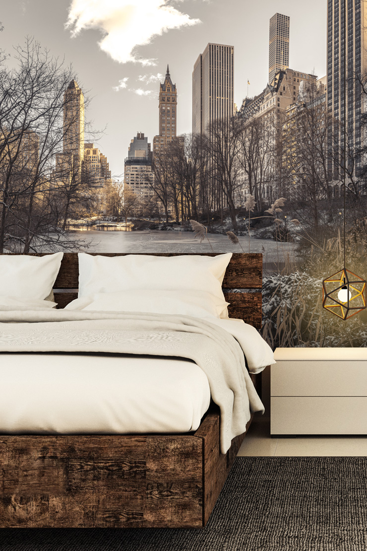 New-York-wallpaper-in-bedroom