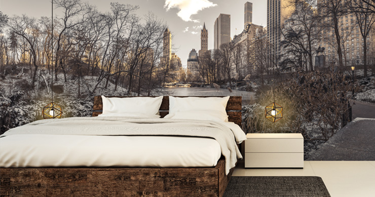 snowy-NYC-central-park-wallpaper-mural-in-guest-bedroom