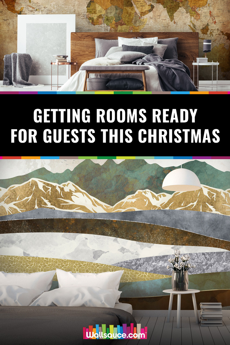 Read this guide on bedroom wallpaper if you are expecting guests this Christmas