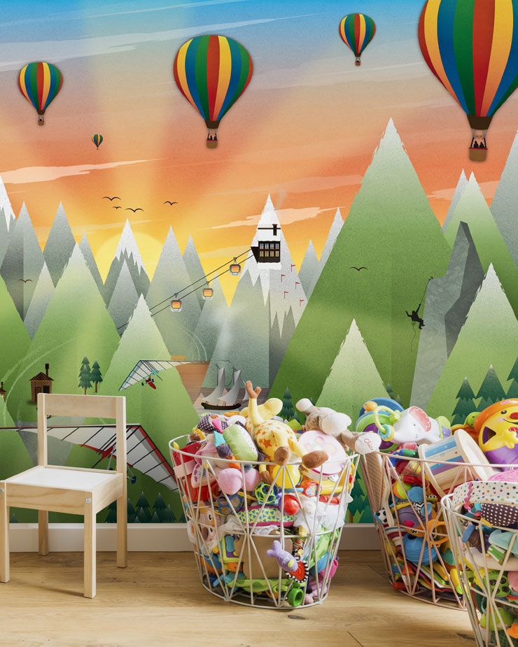 hot-air-balloon-mural-in-childrens-bedroom