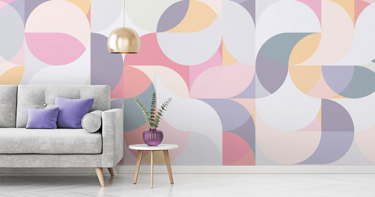 pastel-geometric-wallpaper-in-living-room