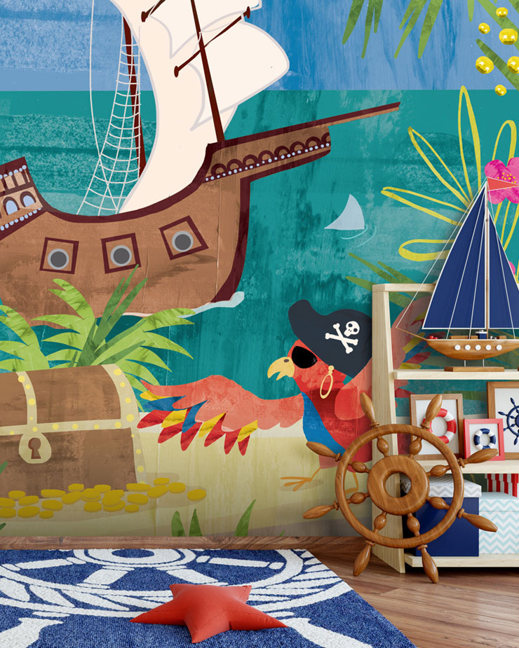 pirate-mural-in-kids-room