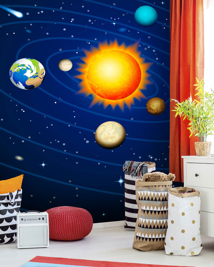 space-mural-in-kids-bedroom