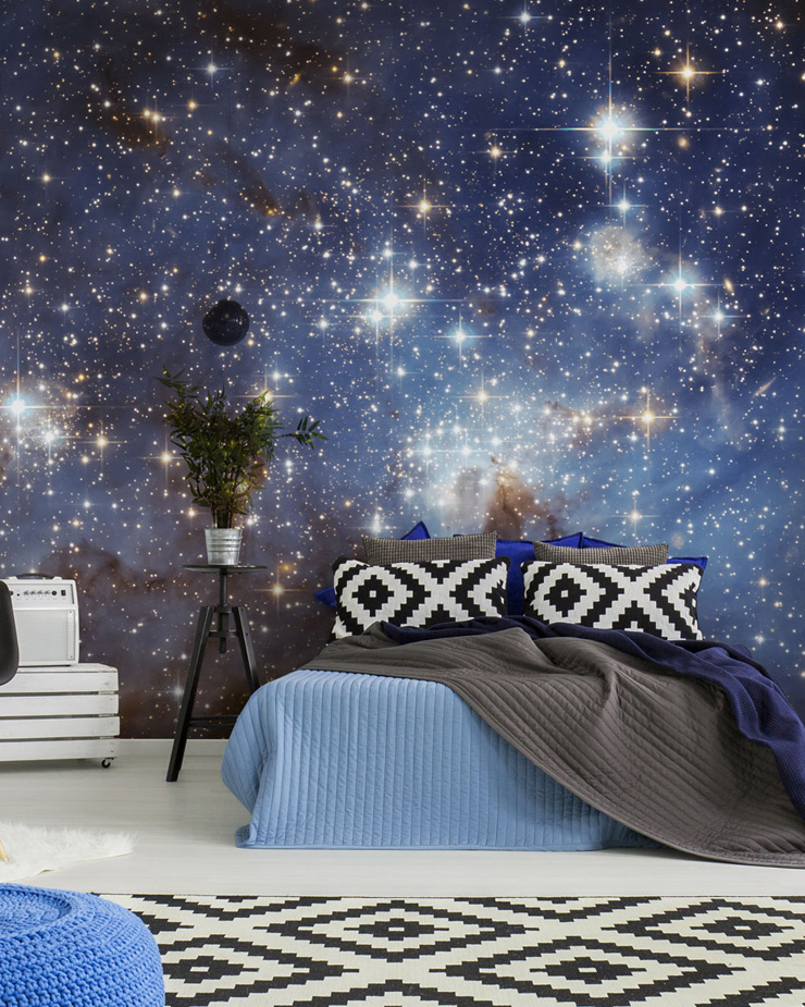 star-wallpaper-in-bedroom