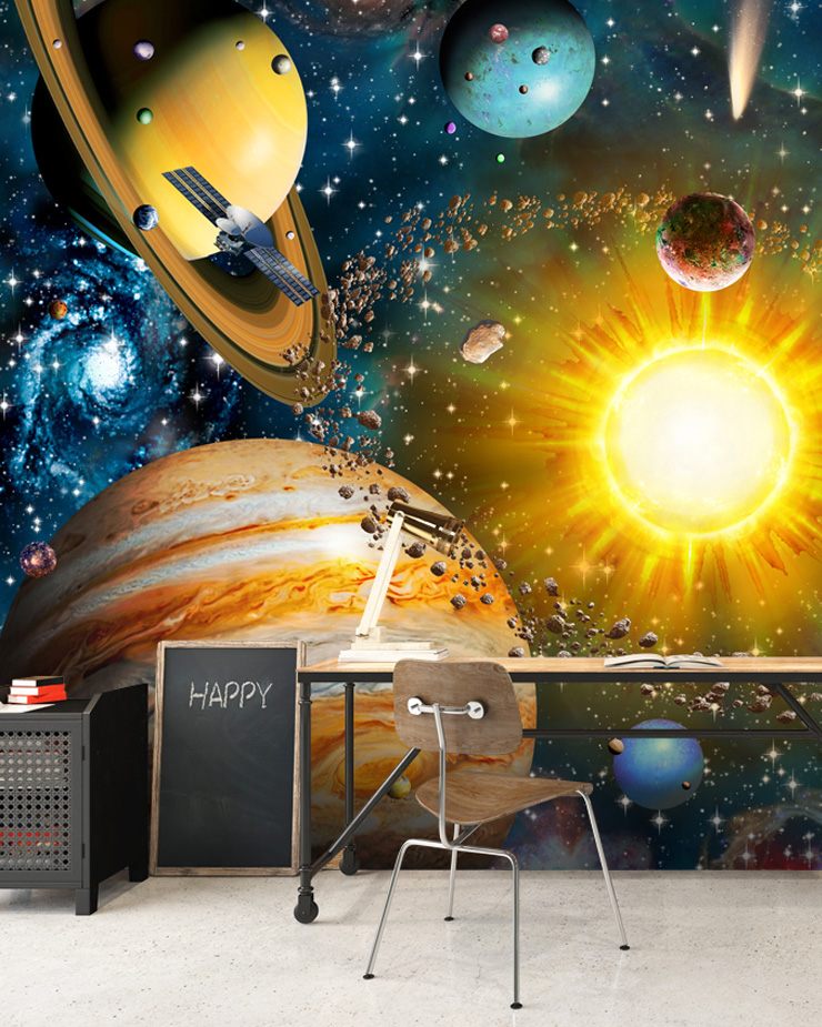 solar-system-wallpaper-in-home-office