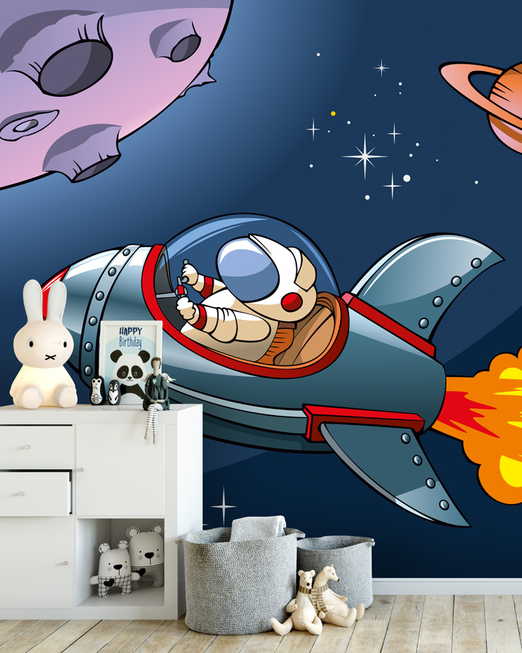 rocket-wallpaper-mural-in-kids-bedroom