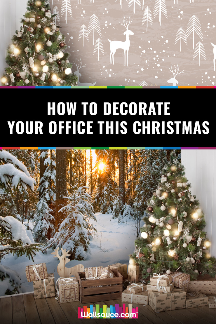 How to decorate your office this Christmas with Christmas wall murals