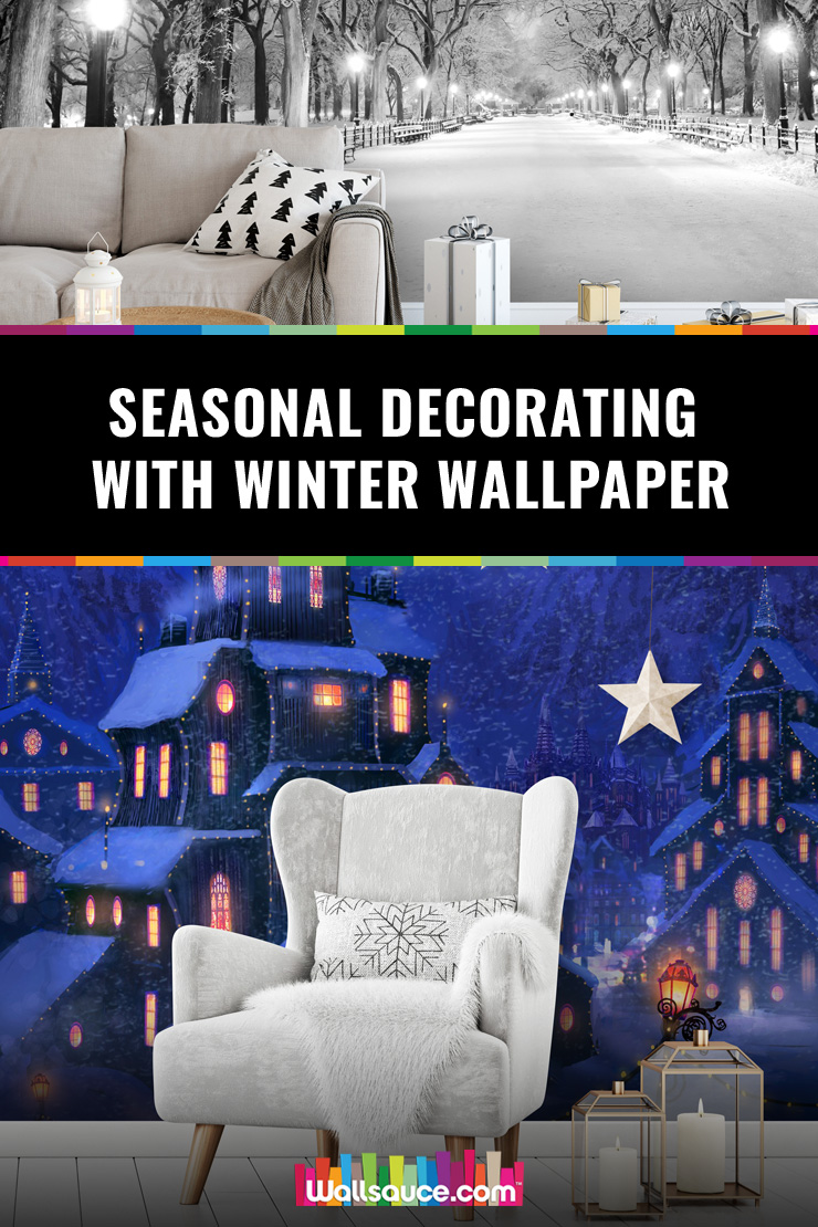 Seasonal-decorating-with-winter-wallpaper