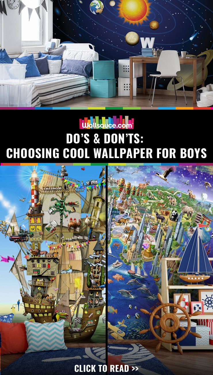 Do's and don'ts for choosing cool wallpaper for boys