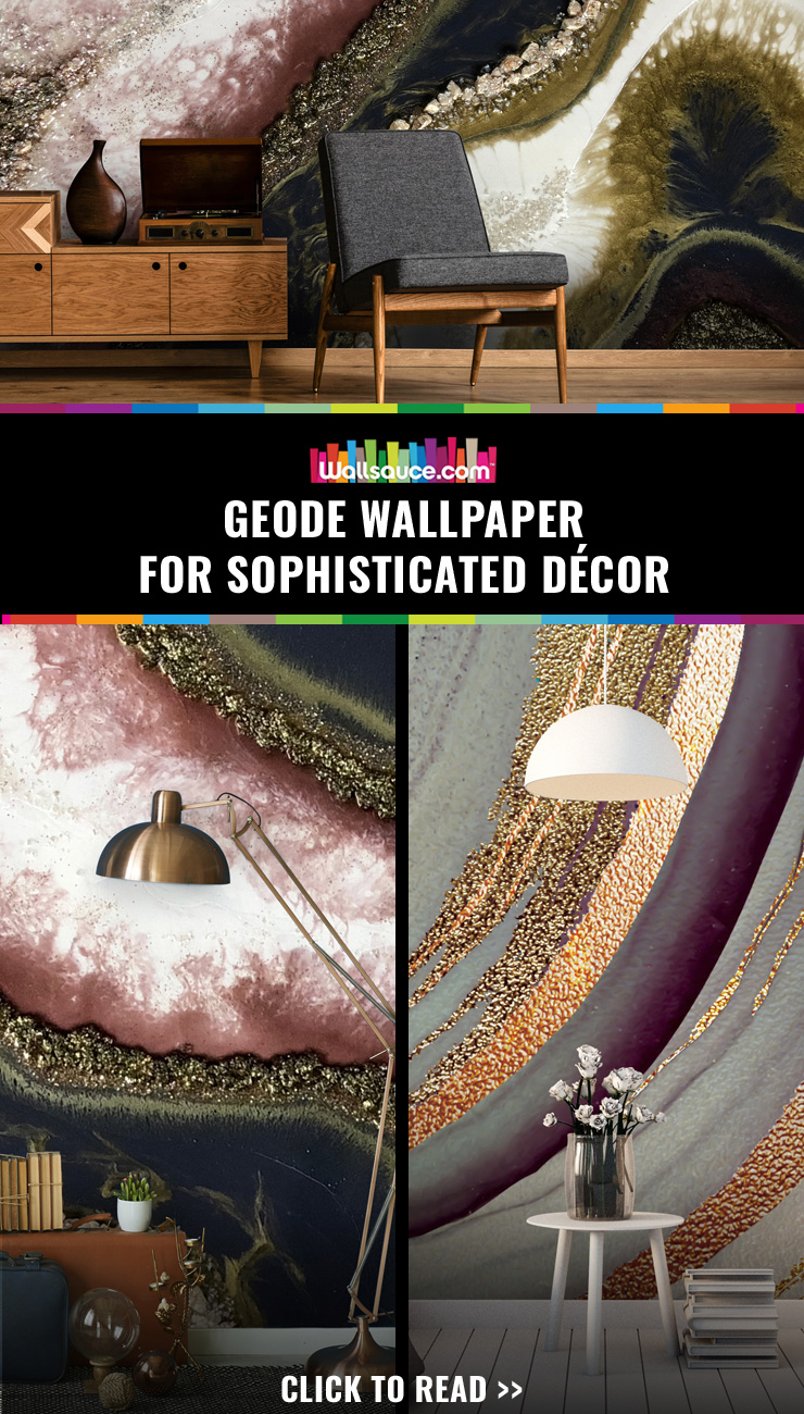 Geode wallpaper for sophisticated decor