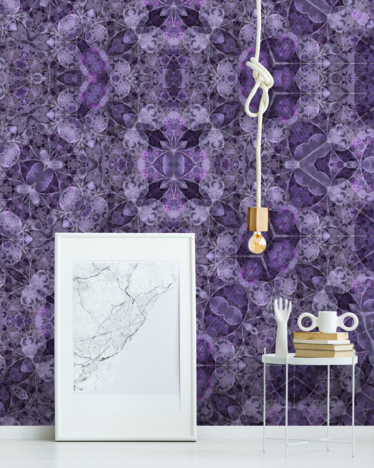mauve-wallpaper-in-lounge