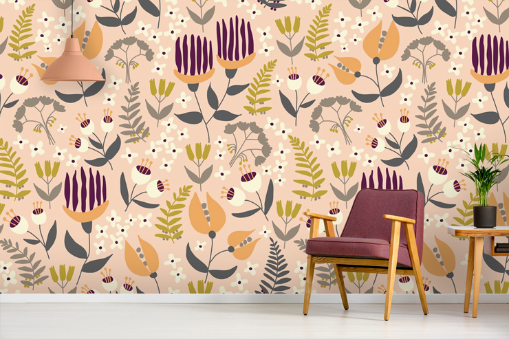 patterned-wallpaper-in-lounge