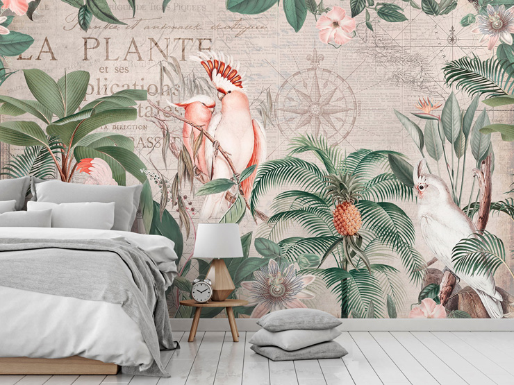 jungle themed bedroom mural by Andrea Haase