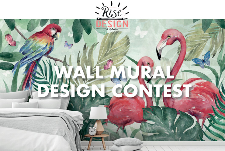 Wall mural design contest graphic