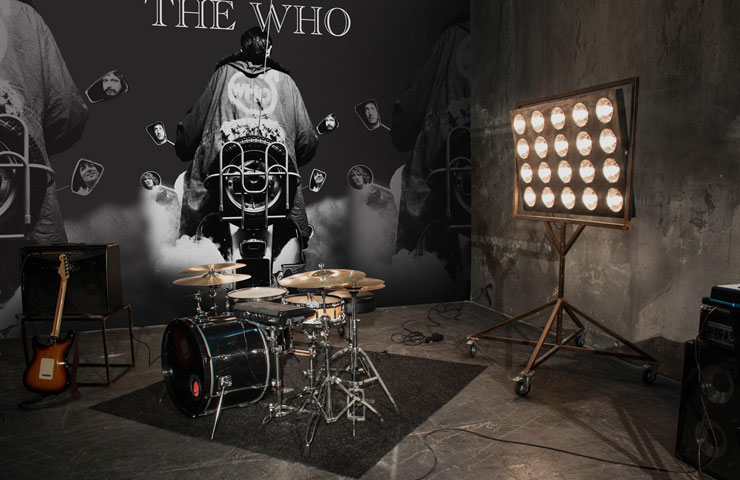 the who grey motorbike wallpaper in band practice room
