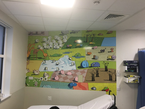 Northumbria Childrens Ward Mural
