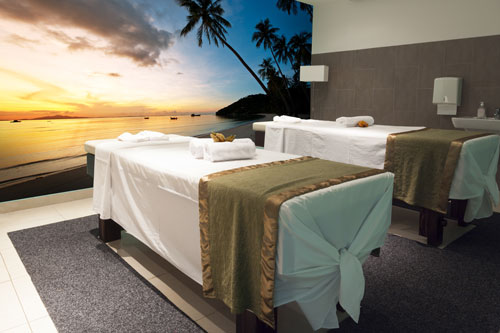 Wallpaper for salons and spas relaxing spa wall murals for Salon wallpaper