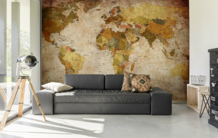 Vintage Map Wallpaper Wallpaper Murals
