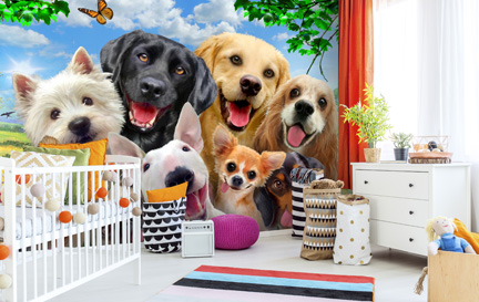 Dog Wallpaper Wallpaper Murals