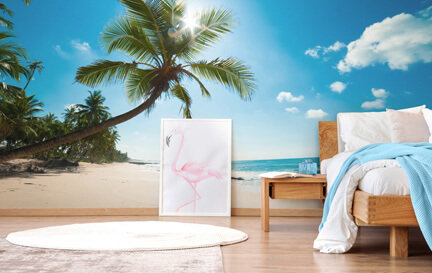 Beach Wallpaper Tropical Beach Wall Murals Wallsauce Us