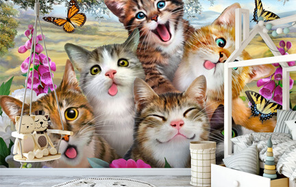 Cat Wallpaper Wallpaper Murals