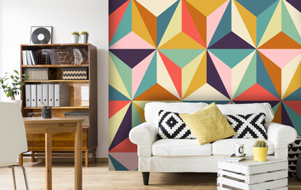 Geometric Wallpaper Wallpaper Murals