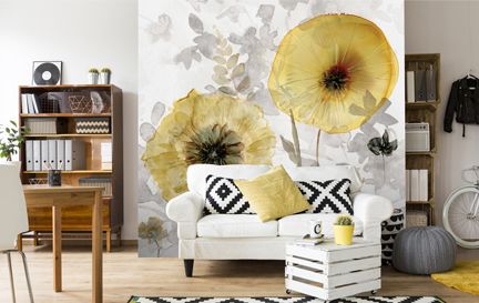 Living Room Wallpaper Wall Murals Wallsauce Uk