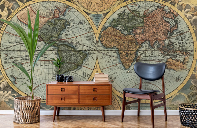 Ancient Map Wallpaper Wallpaper Murals