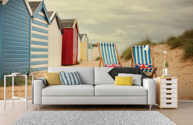 Beach Hut Wallpaper Wallpaper Murals