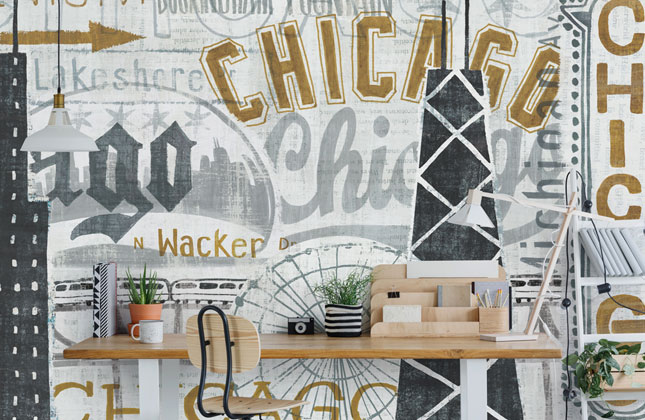 Chicago Wallpaper Wallpaper Murals