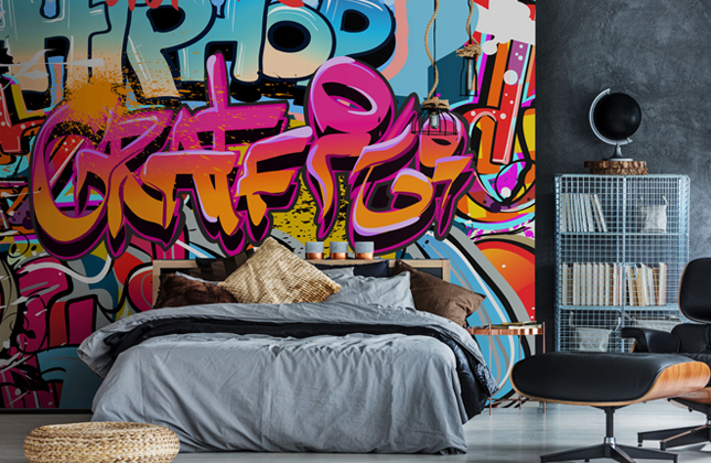 Graffiti Wallpaper Street Art Wall Murals Wallsauce Us