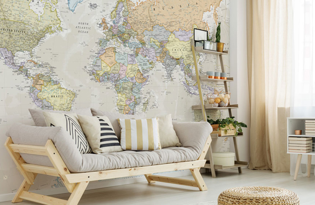 World Map Wallpaper Wallpaper Murals