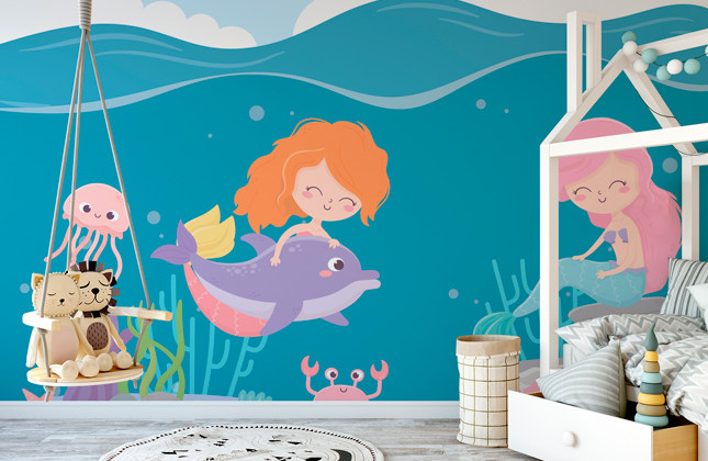 Mermaid Wallpaper Wallpaper Murals
