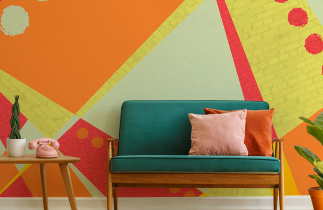 Orange Wallpaper Wallpaper Murals